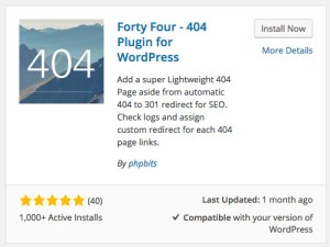 404 plugin by phpbits.net