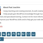 Create your own author bio box in WordPress