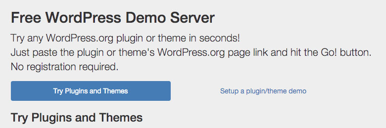 Free-WordPress-Demo-Server-Test-Plugins