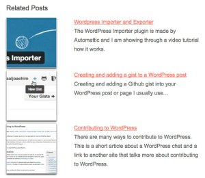 Related Posts Frontend View