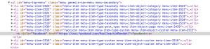 Inspect element Chrome -Adding social links