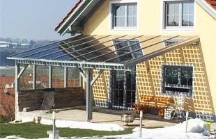 Terrassenüberdachung Selber Bauen Ein Glasdach Als