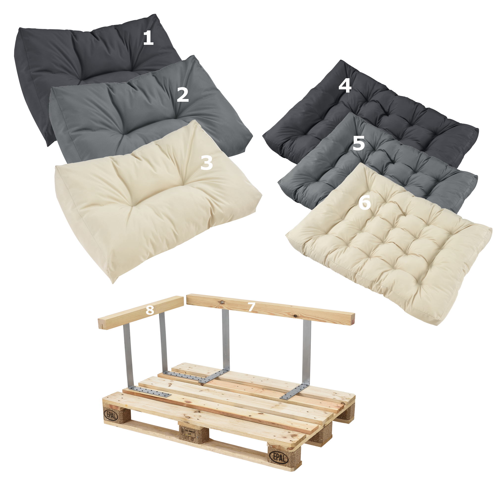 pallet sofa for sale room and board leather bed en casa cushions in outdoor pallets cushion