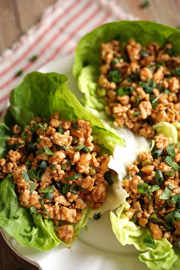 Healthy Turkey Lettuce Wraps, a favorite in our home! | Eat Yourself Skinny