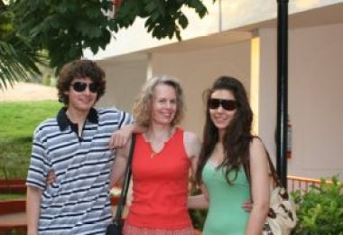 From left to right: My brother, my Mum and me (Nina), I think Dad took this picture, while on a trip to Goa to visit the seaside.