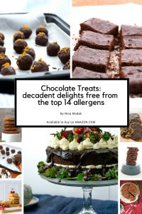 Chocolate Treats: decadent delights free from the top 14 allergens amazon UK USA gluten free vegan dairy free paleo top 8 allergen free nut free
