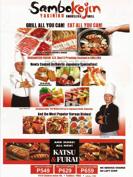 eat all you can at sambo kojin eastwood restaurant eat