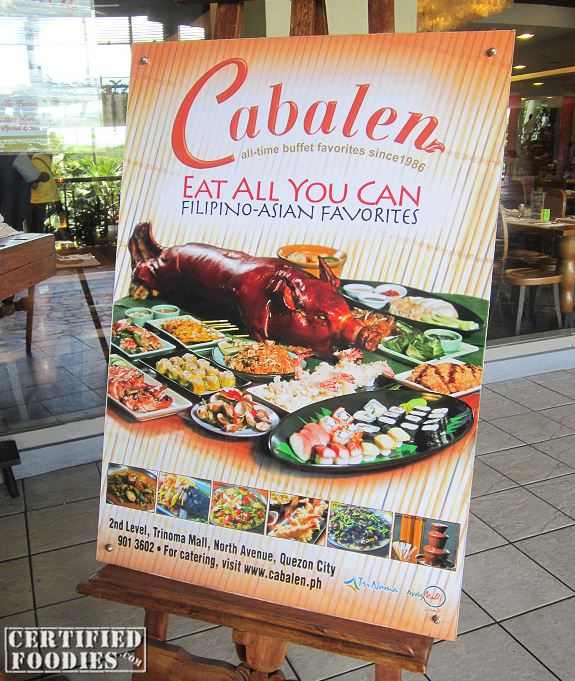 Eat All You Can Trinoma - Cabalen