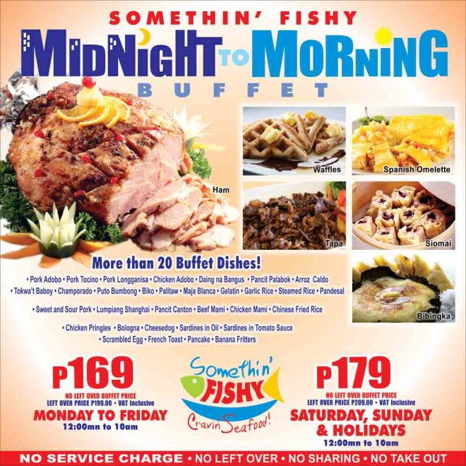 Eat All You Can In Quezon City - Somethin' Fishy