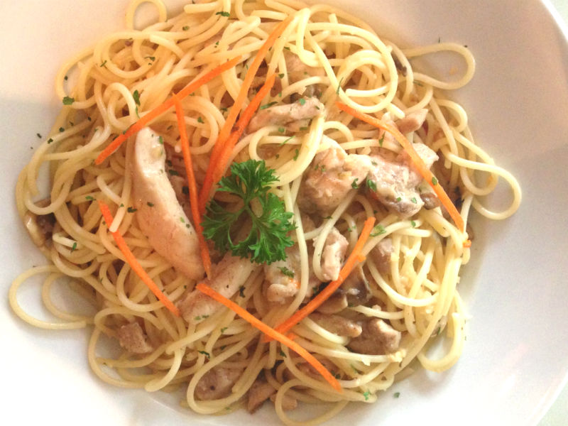 Aglio Olio Chicken Olio at China Square Central (Singapore)