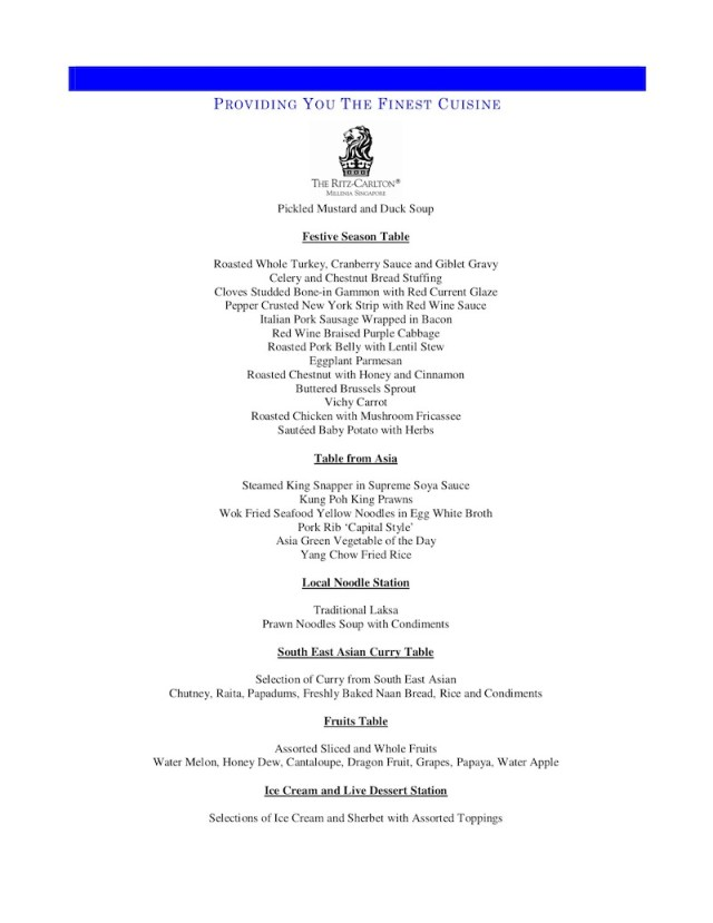 Greenhouse Pre Xmas Lunch Buffet Menu-2