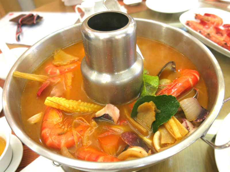 Resort Seafood Genting Highlands Spicy Seafood Soup served in Steamboat Pot