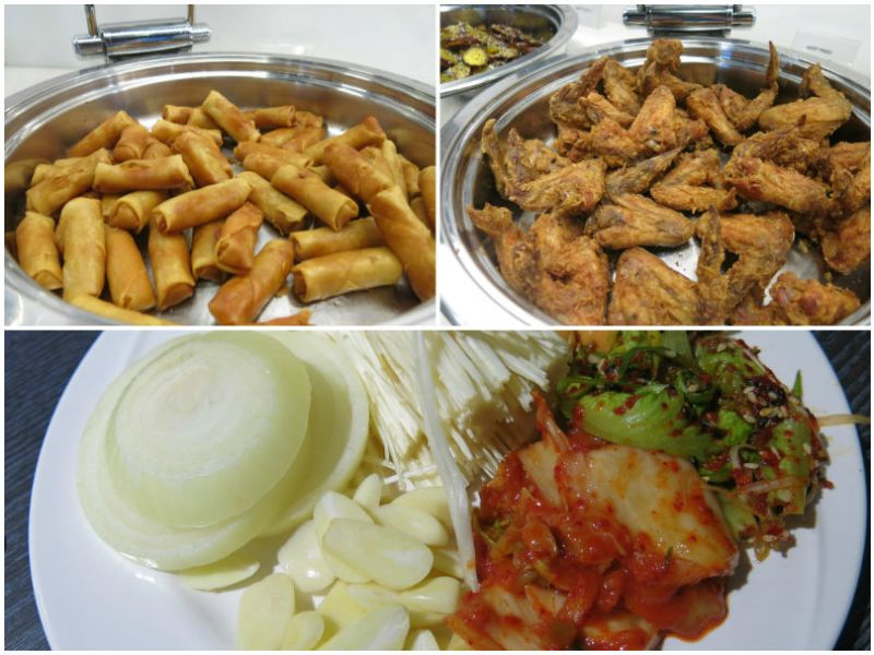 I'm Kim korean BBQ Kim chi Fried Chicken Spring Rolls
