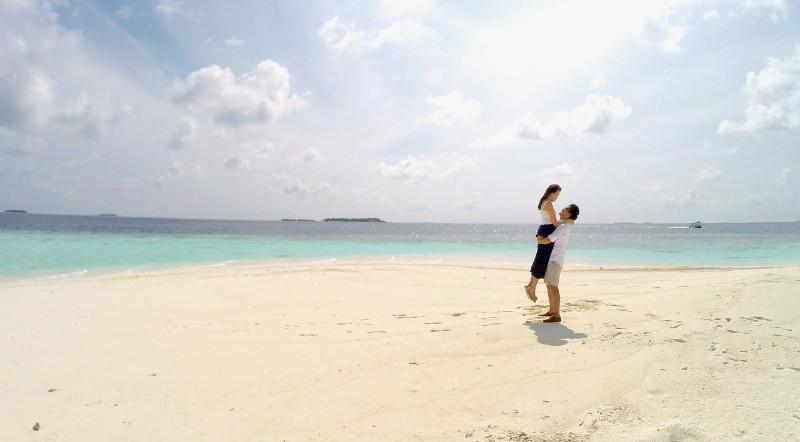 Baros Maldives-sandbank