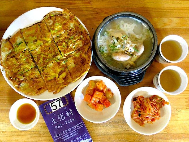 Tosokchon Ginseng Chicken and Pancake