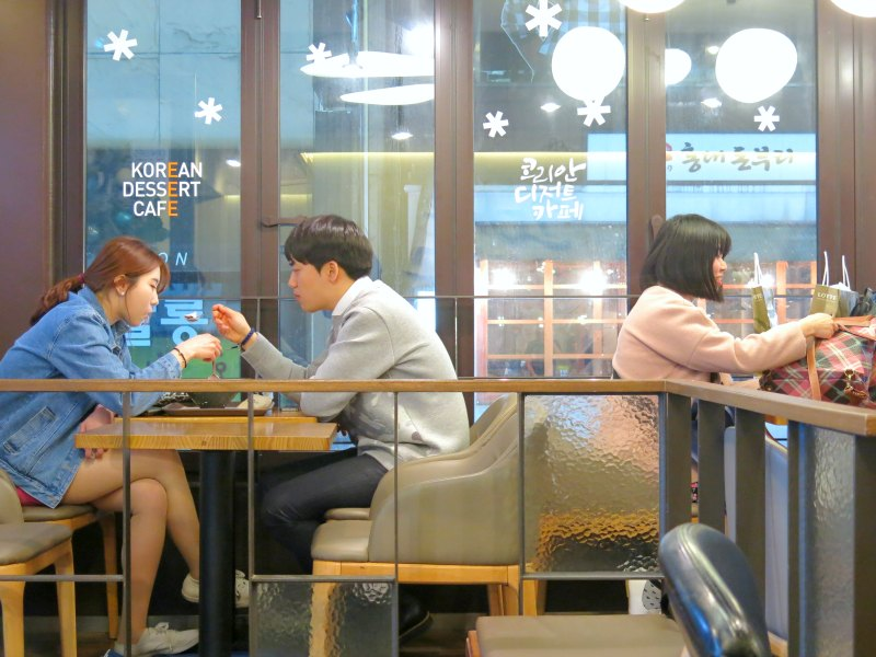 Couple at Korean Dessert Cafe Sulbing