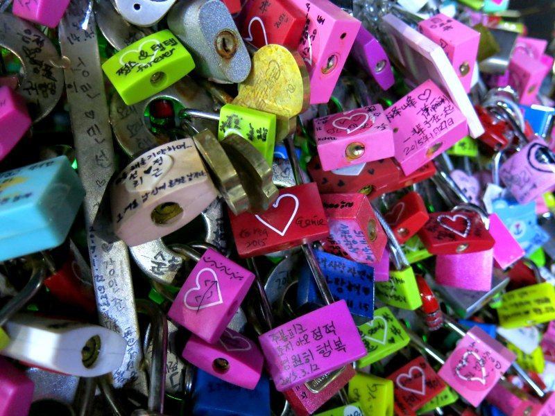 Love Locks at Namsan Mountain
