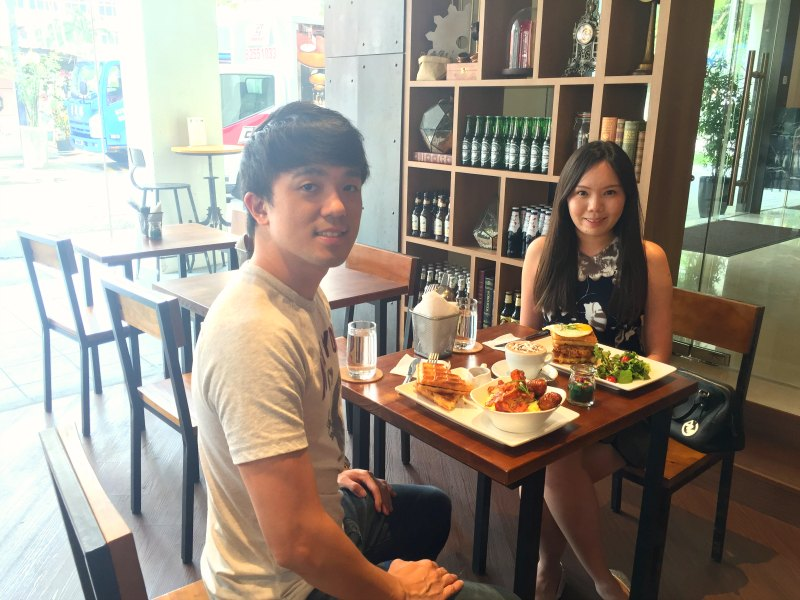 Couple at Monniker Cafe Balestier Road
