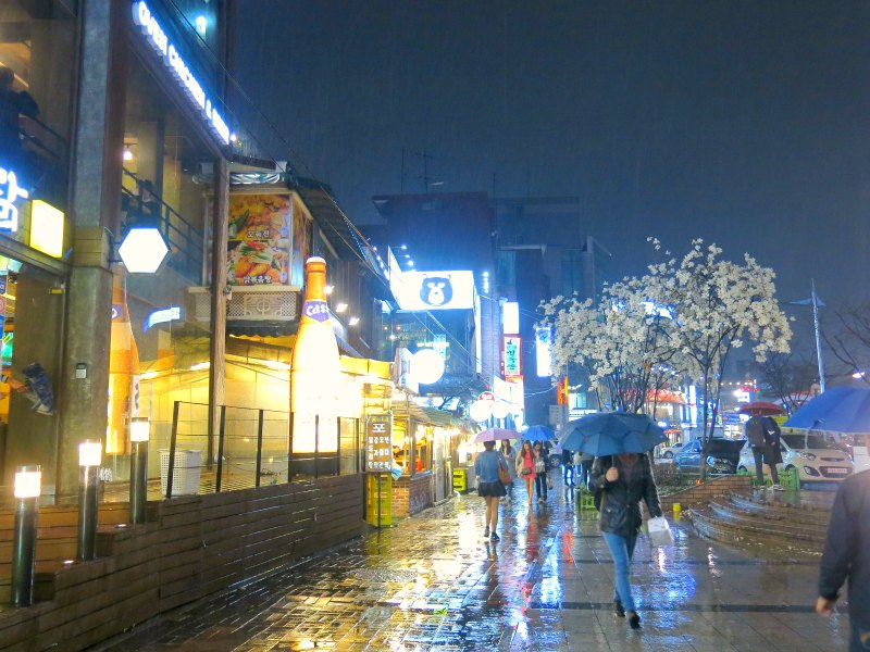 Hongdae at night