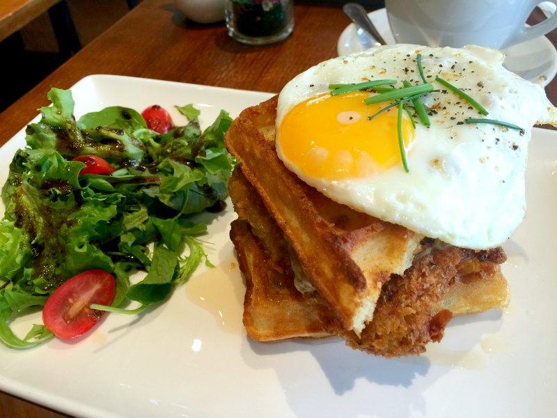 Monniker Chicken Waffle Stack