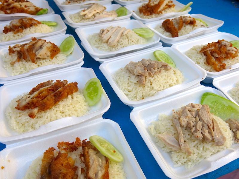 chicken rice at Centralworld bangkok