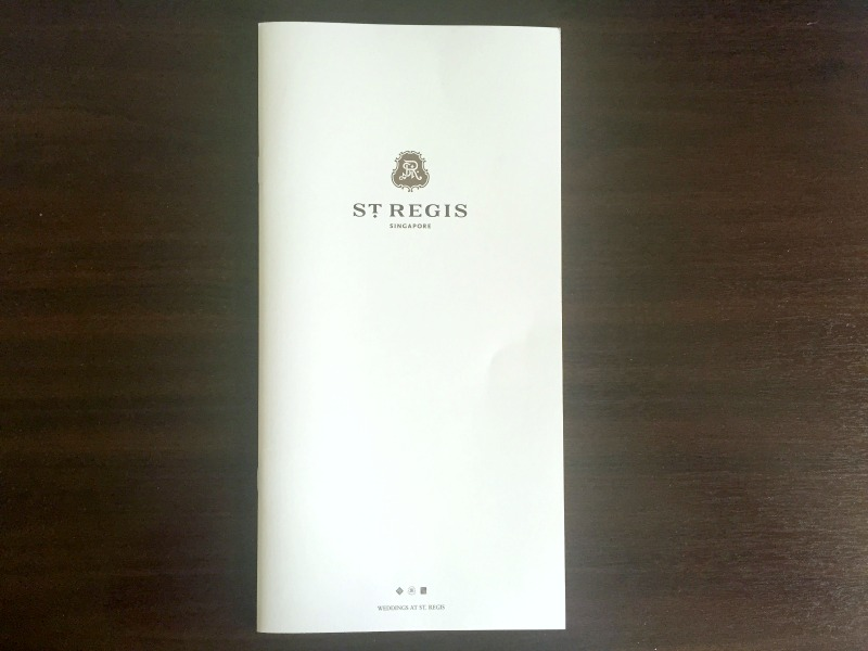 The St Regis Singapore Wedding Brochure