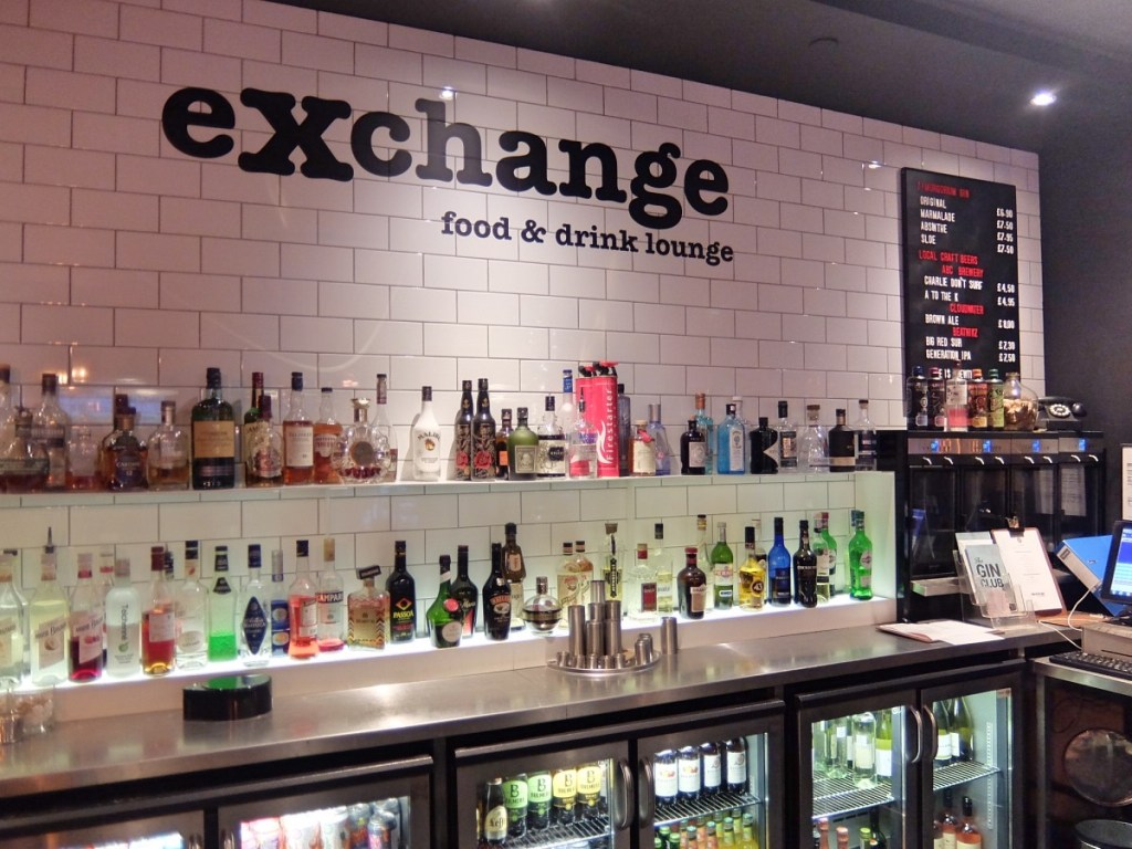 Bar area eXchange Food and Drink Lounge