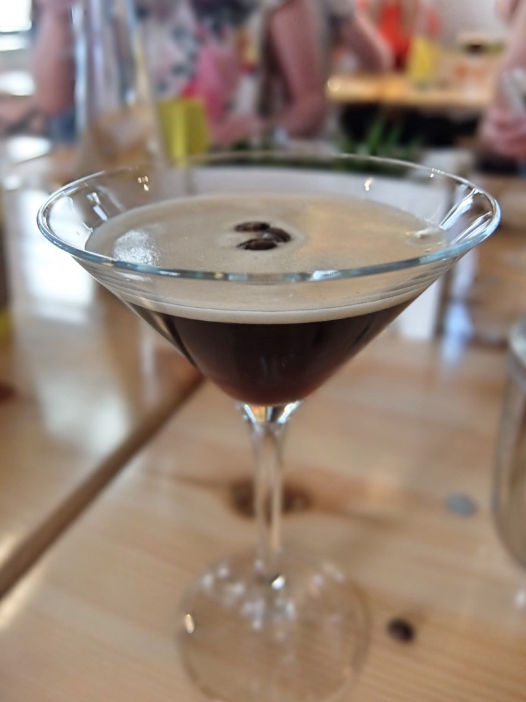 Espresso Martini made with Kahlua