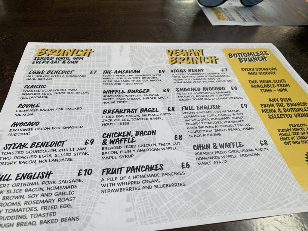Full Brunch Menu