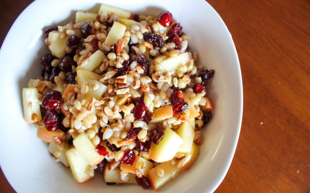 Cranberry Apple Pecan Barley Pilaf