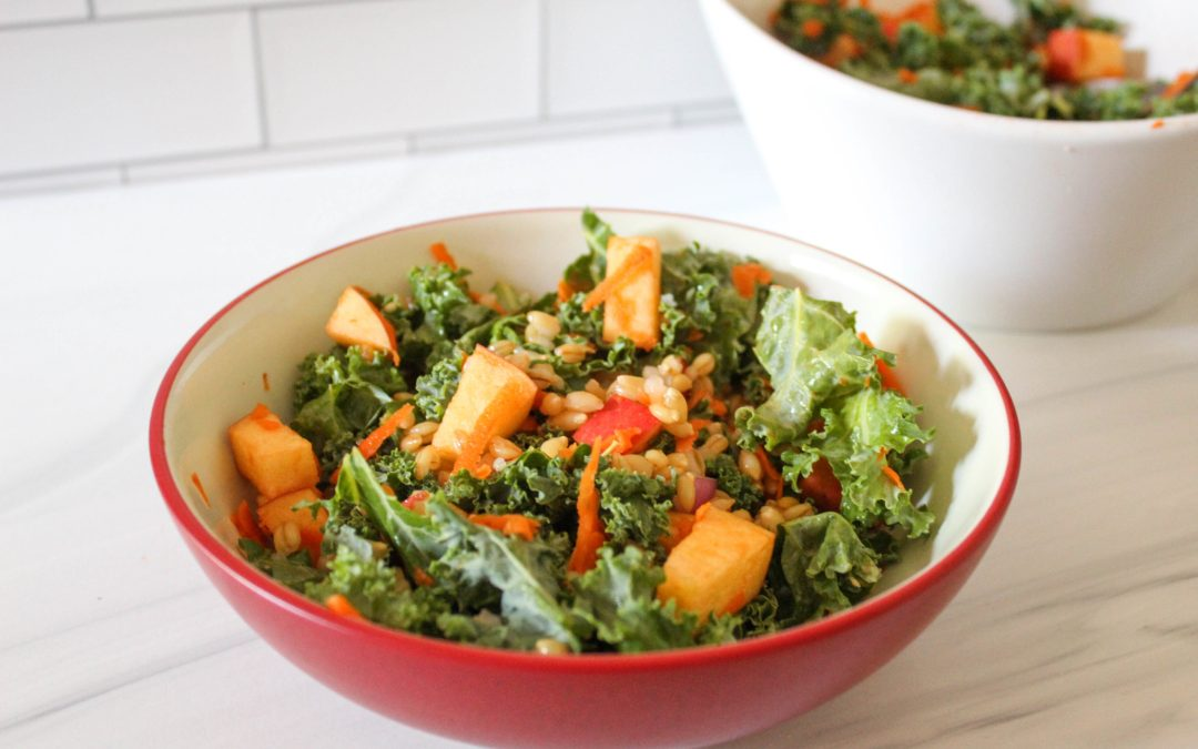 Kale & Apple Barley Salad