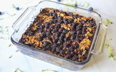 Blueberry Zucchini Barley Flake Bake
