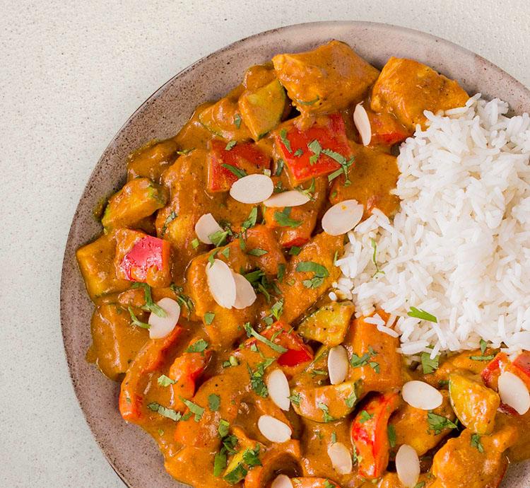 Madras Curry mit Reis
