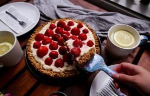 gesunde Snacks: Erdbeerkuchen