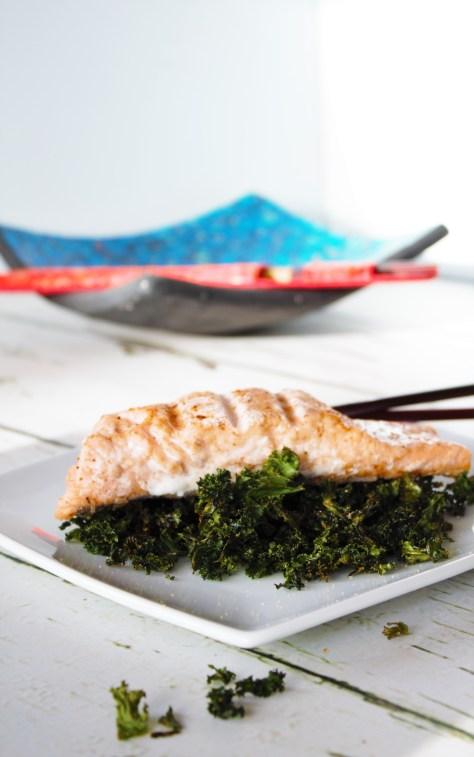 Chinese Salmon Crispy Kale