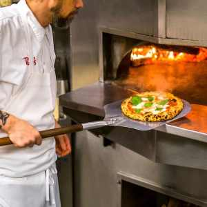 Ray's & Stark Bar_Margherita Pizza in Oven