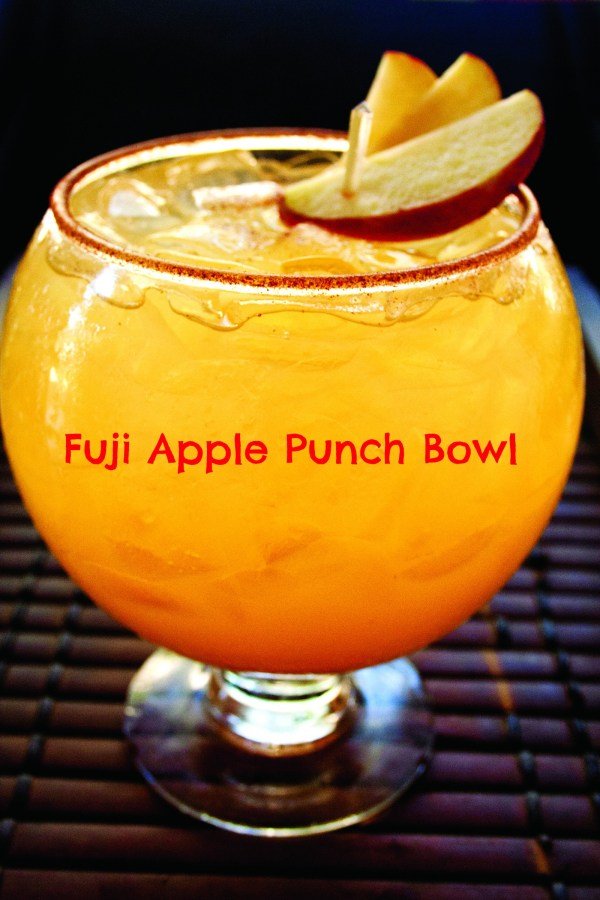 fuji apple punch bowl