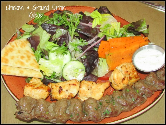 Luna Grill Chicken and Ground Sirloin Kabob