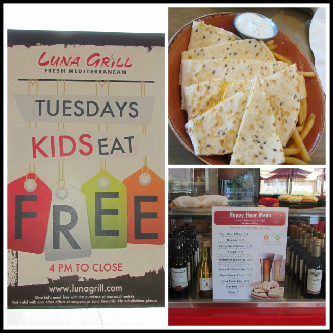Luna Grill Kids and Happy Hour