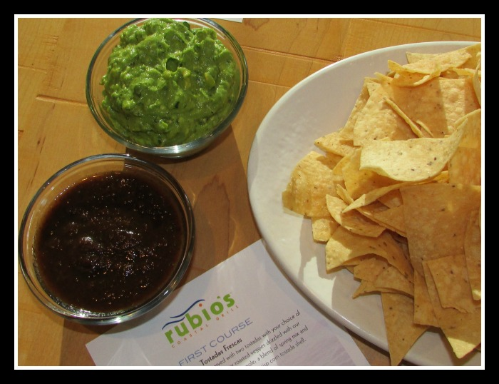 Rubio's chips and Guacamole