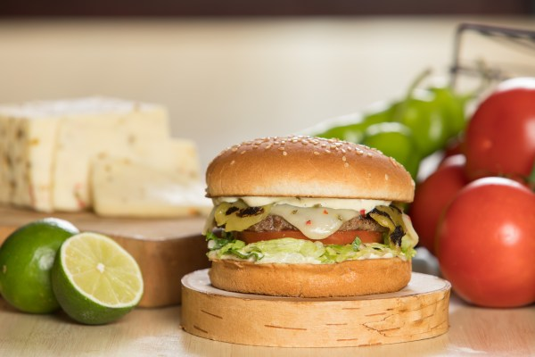 Hatch Chile Charburger with Pepper Jack cheese(1)