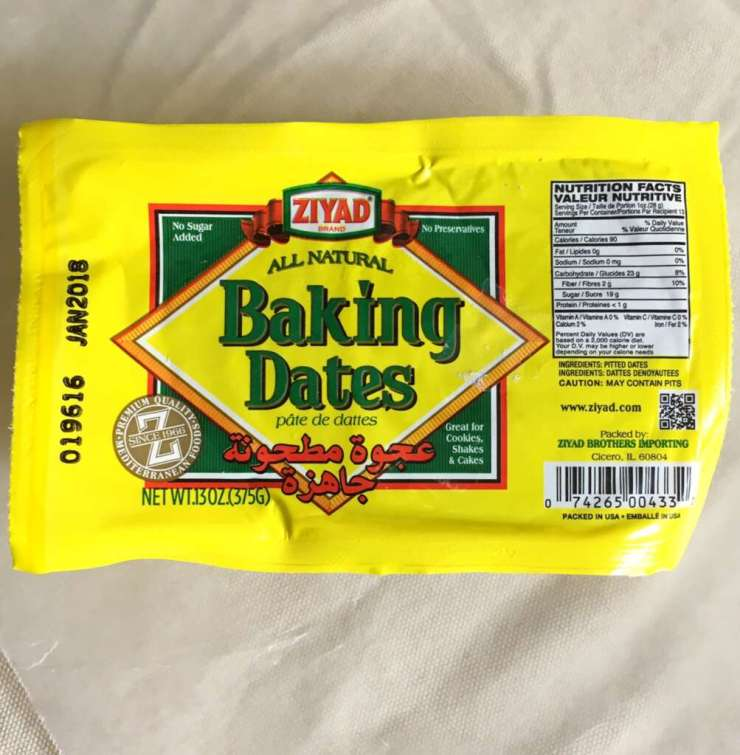Packet of dates