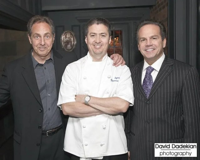 Share Our Strength's Director of Culinary Events Joe Allegro with Chef David Reynoso and Providence Mayor David Cicilline
