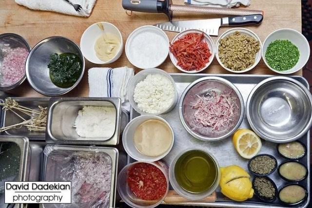 Chez Pascal's Chef Matt Gennuso's mise en place
