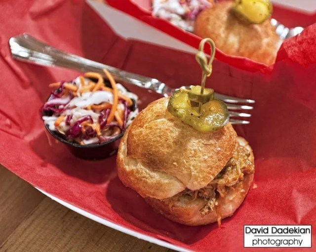Gracie's pulled pork brioche slider