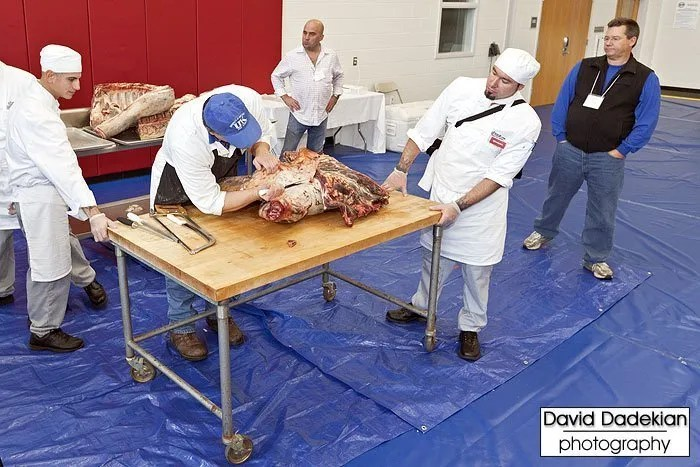 Butchery demo on side of Blackbird Farm beef by University of Kentucky Dr. Gregg Rentfrow 2