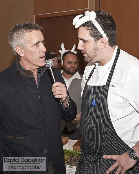 Host Billy Costa with Chef Michael Scelfo