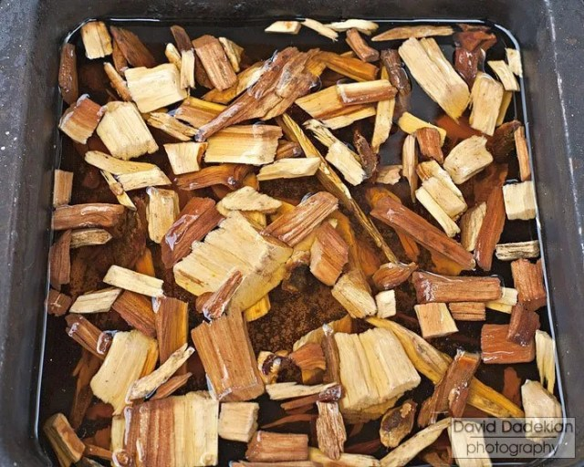 apple wood chips soaking