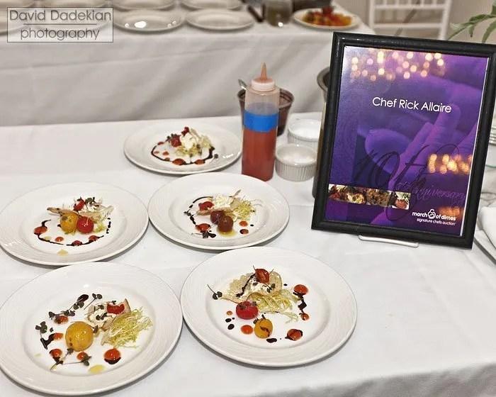 Chef Rick Allaire's tomato salad with stracciatella