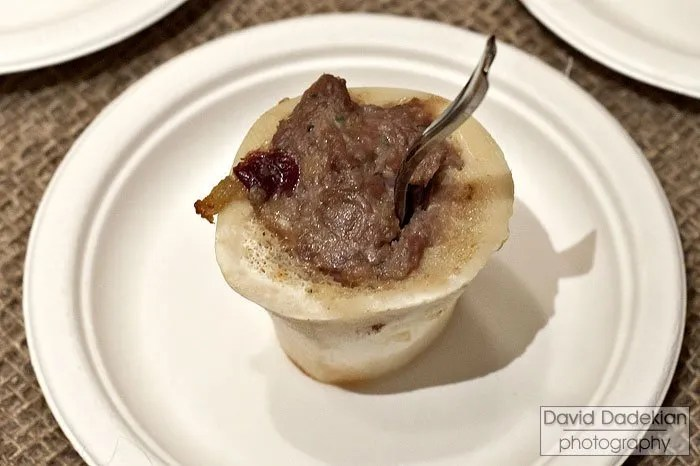 Citizen Public House & Oyster Bar Chef Brian Reyelt's Lamb Leg & Bone Marrow Polpettone with Bourbon Cherries